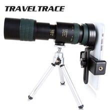 8 24x30 zoom telescópio monocular para smartphone de alta qualidade poderoso dobrável bak4 retrátil caça óptica portátil portátil