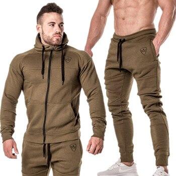 2 pièces automne survêtement de course hommes sweat ensemble de Sport vêtements de Sport hommes costume de Sport costume de formation vêtements de Sport