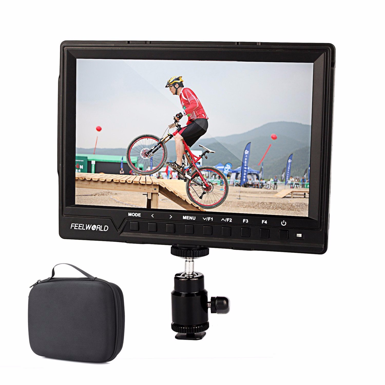 Feelworld FW 760 комплект с сумкой 7 ''видео монитор IPS Full HD 1920x1200 HDMI 1080p с солнцезащитным козырьком для камеры Canon Sony Dslr