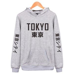 Image 3 - 2019 New Arrival Japan Harajuku Hoodies Tokyo City Printing Pullover Sweatshirt Hip Hop Streetwear 4XL Plus Size Clothing