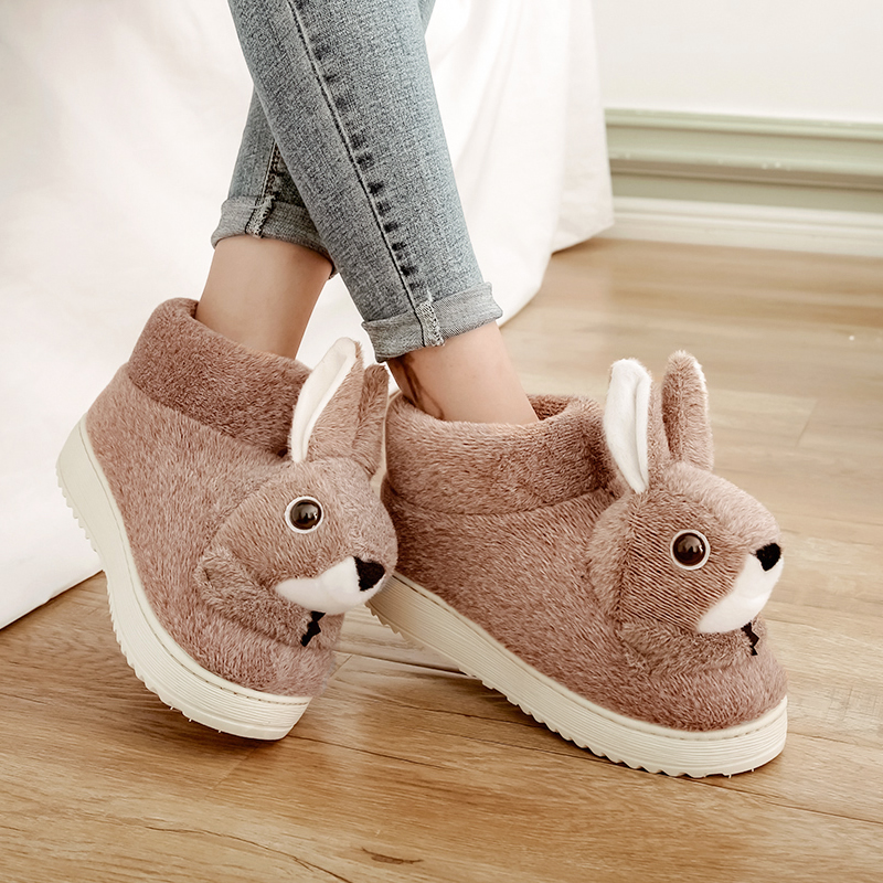Winter Warm Kids Men&Women Adults Cotton Slippers Rabbit Shape Plush Slipper Shoes Indoor Shoes Soft Bottom Cartoon Home Slipper slipper