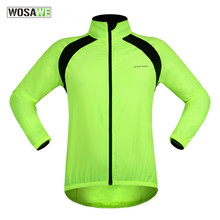 WOSAWE New Green Cycling Jerseys Long Sleeve Water Repellent TPU fabric Wind Jackets Road MTB Bike Riding Coat wosawe windproof cycling jackets men women riding waterproof cycle clothing bike long sleeve jerseys sleeveless vest wind coat