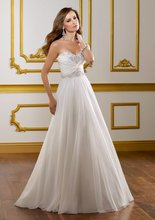 $10 off per $100 order A-254 2013 Spring A-line Slim Beadeds Ruffle Chiffon Wedding Dress Designer