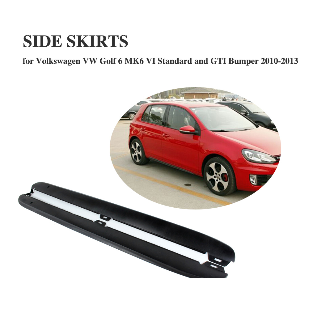 цены Side Skirts Aprons Body Kit For Volkswagen VW Golf 6 VI MK6 & GTI 2010-2013 PP Black Unpainted Exterior Bumper Strip Car Styling