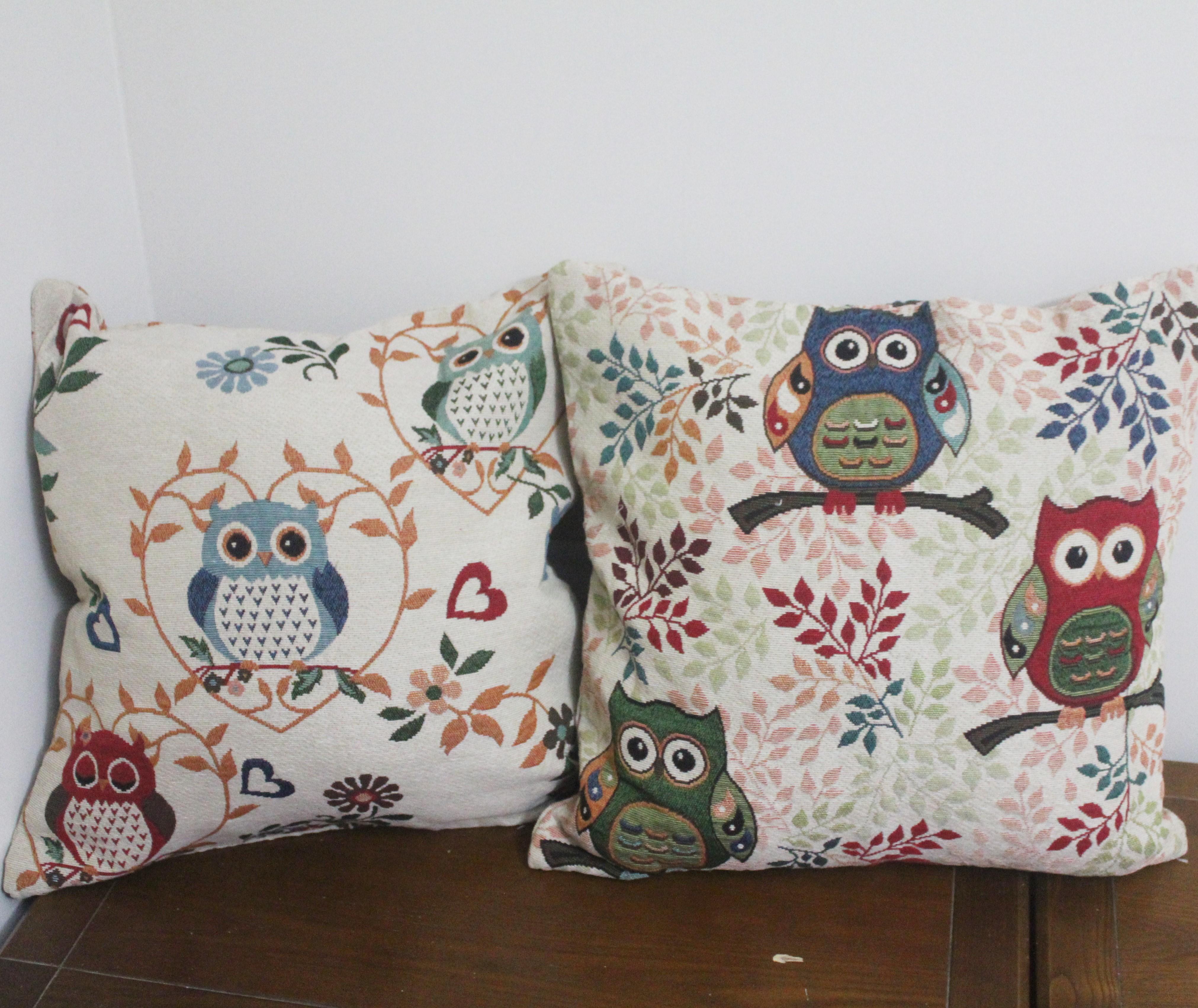 Vintage Eule Dekorative Kissenbezge Wohnzimmer Couch Sitz Boden Stuhl Kissen Cover Outdoor Kissenbezug Fr Sofa