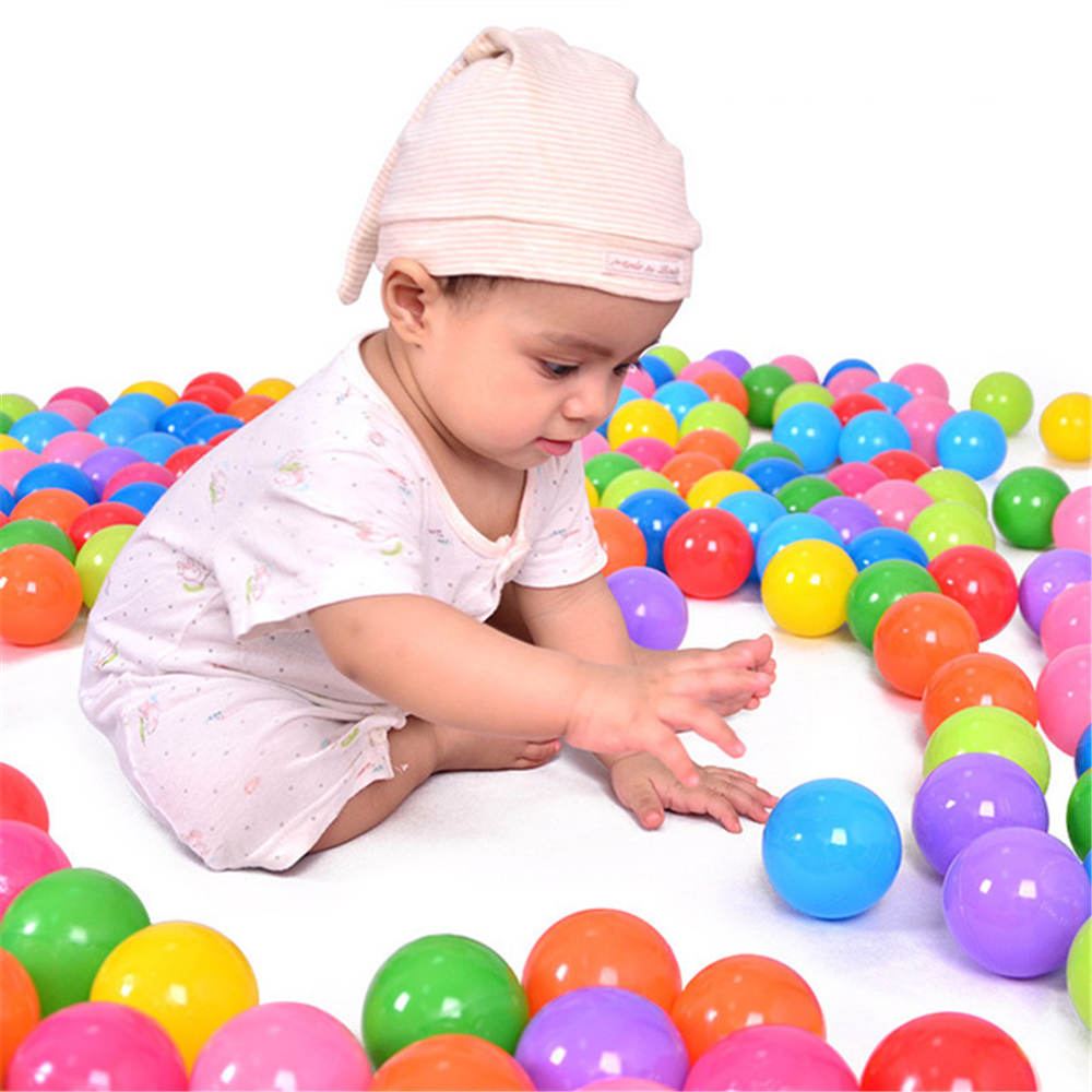 100pcs Baby Kids Colorful Toy Ball Soft Pool Ocean Water Wave Beach Ball Pit For Children Funny Air balls Toys Anti stress Ball ball shooting pig stress reliever toy 5 balls