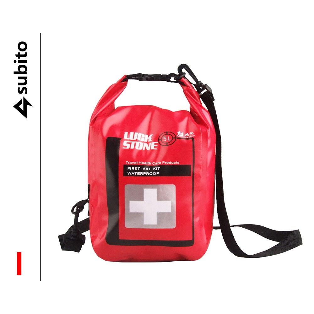 5l 방수 소형 응급 처치 키트 하이킹 배낭 여행 캠핑 여행 자동차 사이클링 5l 야외 의료 응급 처치 ki