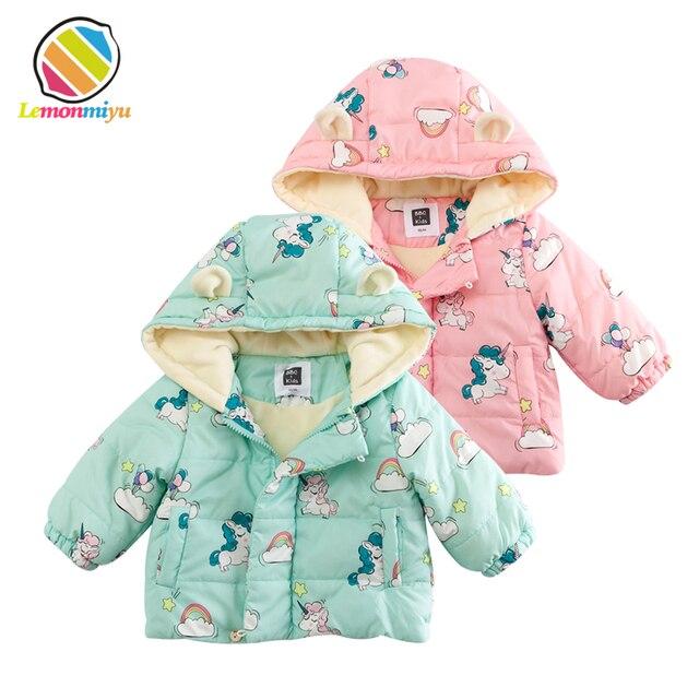752d6316a Lemonmiyu Baby Winter Fluffy Parkas Thicken Quilted Zipper Infants ...