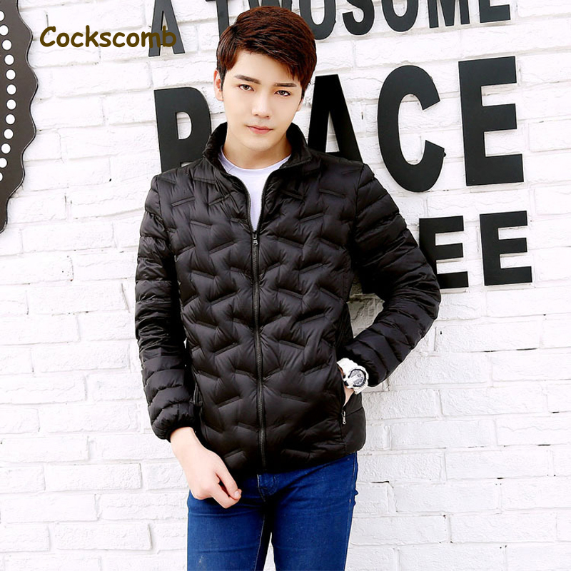 Cockscomb 2018 New Autumn   Down   Jacket Men 90 White Duck   Down     Coat   Ultralight   Down   Jacket Male Windproof Warm Parka Plus Size