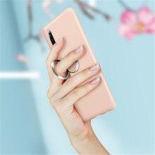 جراب هاتف مقاوم للصدمات غطاء سيليكون أصلي لهاتف آيفون 7 6 6s 8 X Plus coque iphone XS Max XR بلون رفيع للغاية