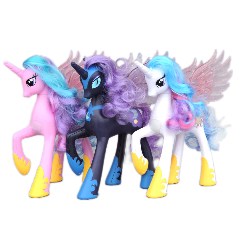 NEW 22cm  My Little Pony Friendship is Magic Princess Celestia Cadance Luna Action Figure Doll Christmas Gift Toy For Kids GiftsNEW 22cm  My Little Pony Friendship is Magic Princess Celestia Cadance Luna Action Figure Doll Christmas Gift Toy For Kids Gifts