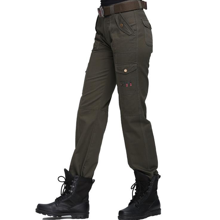 18d8b1a84718 Παντελόνια μεγάλου μεγέθους φορτίου Γυναικεία στρατιωτικά ενδύματα ...