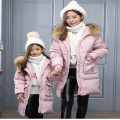 Mother And Girl Winter Clothes 2016 New Girl Jacket Down Jacket Fashion Hooded Long Women's Winter Jacket Hot Selling