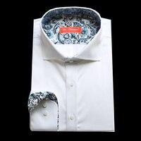 VA 2017 Men S Long Sleeve Pure Cotton Business Formal Fashion Designer Dress Shirt Bespoke