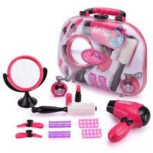 Игрушки для девочек, электрическая косметическая сумочка-игрушка, 3-7 лет, домашний макияж, набор для моделирования, салон красоты