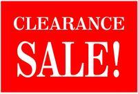 18x12cm CLEARANCE SALE promotion label sticker for shop, 500 pcs/lot, Item No. PD02