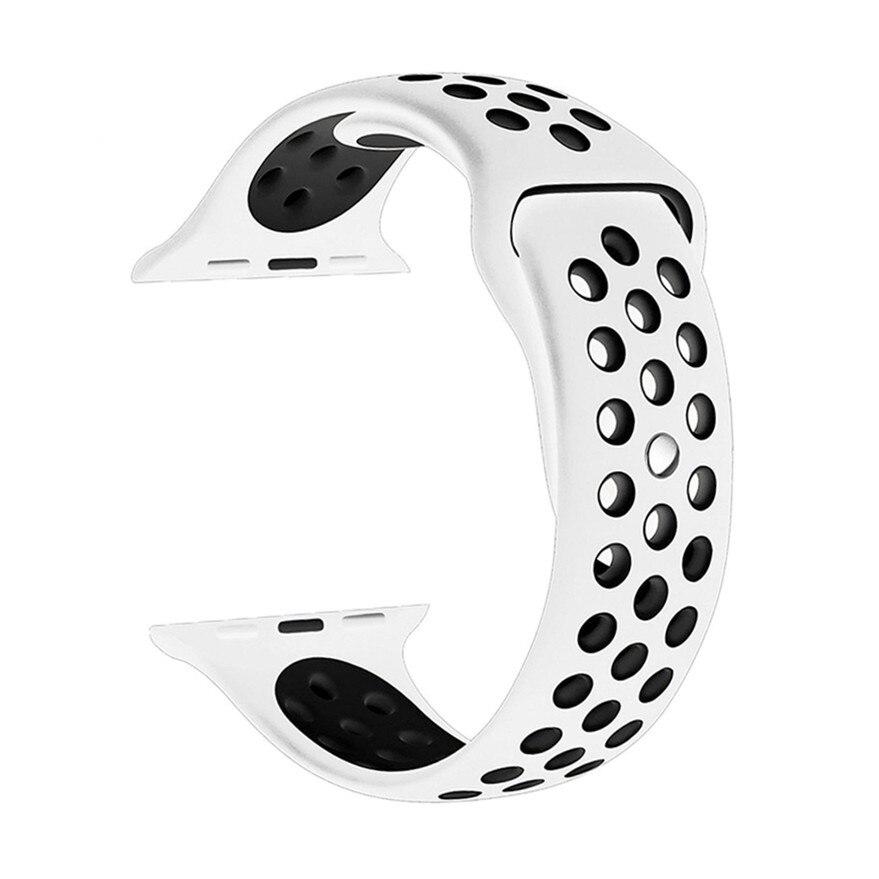 50 шт./упак. силиконовые спортивные ремешок для Apple Watch полоса i watch Series 1/2/3 Смарт часы браслет Ремешок Браслет аксессуары