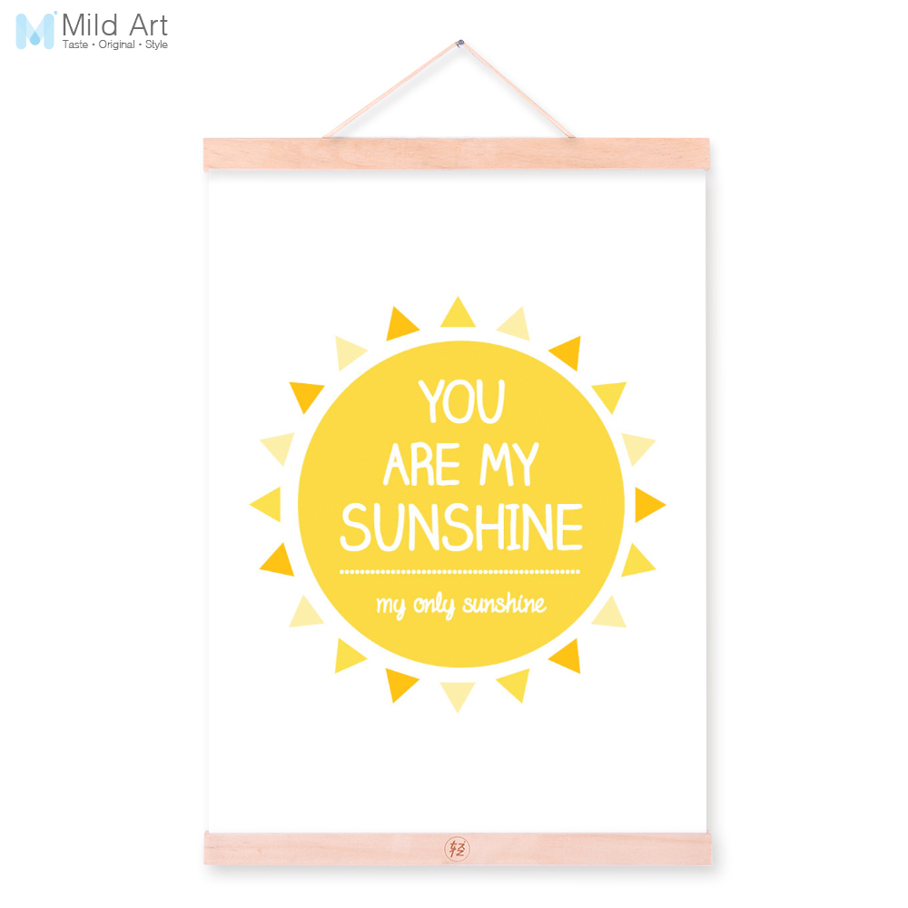 Modern Minimalist Typography Sun Quotes Wooden Framed A4 Canvas ...