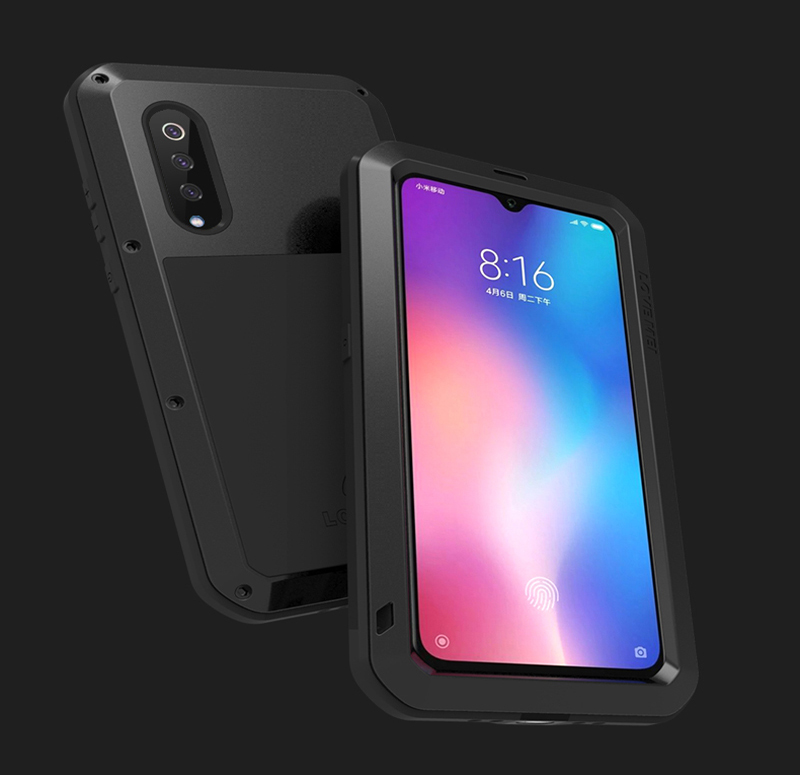 Gorilla glass film gift)Waterproof Heavy Duty Protective Case For Xiaomi Mi 9 Case Shockproof Metal Armor Cover Xiaomi Mi9 Case-in Fitted Cases from Cellphones & Telecommunications