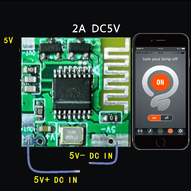 Smart telefon Bluetooth <font><b>APP</b></font> Control Switch Module Mobile AOO DC 5 V 2A <font><b>f</b></font>/Zugang Motor led licht IOS android Controller lampe image