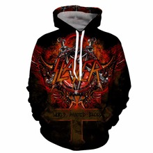 YOUTHUP Slayer Hoodies For Men 3d print Mens Hooded Sweatshirts 3d Pul