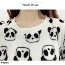 2017 Brand Fashion Harajuku Cute Teddy bear panda Women sweater high quality Long sleeves Flannel Pullovers Warm tops large size