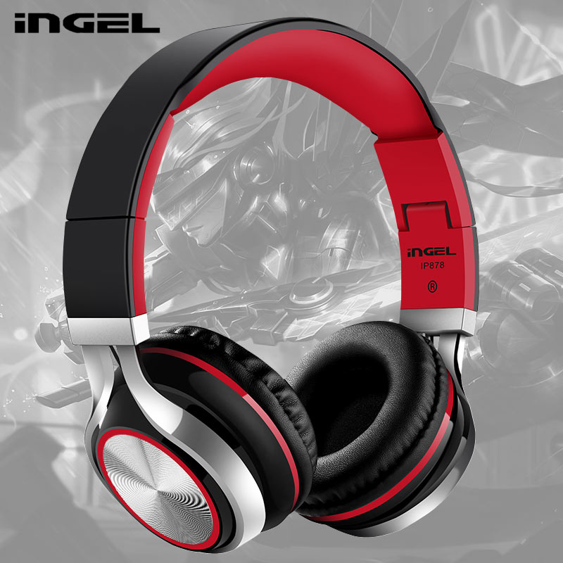 INGEL Foldable 3.5MM Stereo Sound Bass Headset Gaming Headphones For PC Gamer With Mic For Samsung xiaomi PC Smartphone  new products picun c6 stereo headphones earphone with mic best bass foldable headset for iphone 6s pc mp4 xiaomi huawei meizu