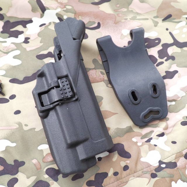 US $32 32 |Tactical LV3 Glock Belt Duty Light Bearing Holster gun  accessories for Glock 17 19 23 32 36-in Hunting Gun Accessories from Sports  &