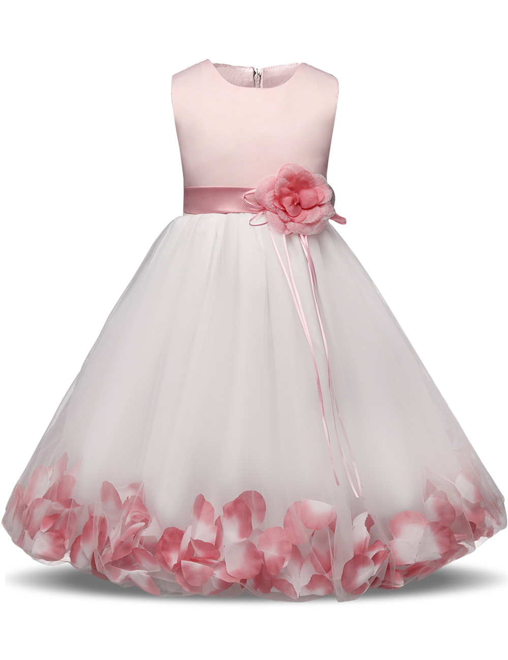 dc42688846e3f Flower Girl Baby Wedding Dress Children's Clothing Girl Party Costume  Evening Formal Dress Kids Clothes Fancy Teenage Girl Gown