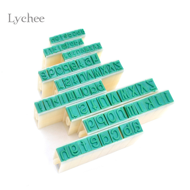 Lychee 1 Set Detachable English Alphabet Letter Stamp Plastic