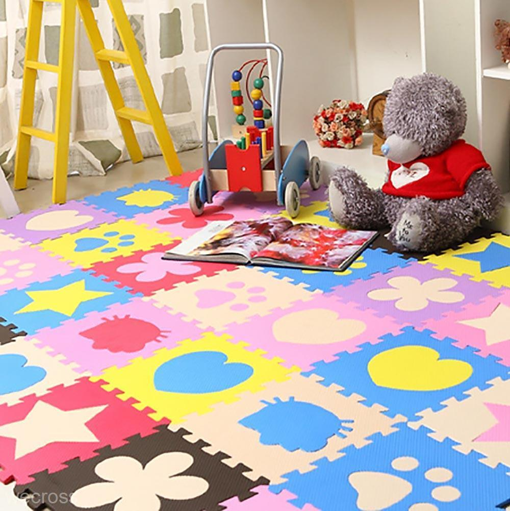 Rugs For Kids 10pcs Soft Eva Foam Mat Pad Diy Puzzle Floor Baby Kids Toddler Play Crawling Rugs Children Early Development Toy