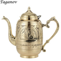 Pure handmade pure copper teapot 0.8L wine pot teapot household teaware thickening tableware Cuprum health tea water kettle gift