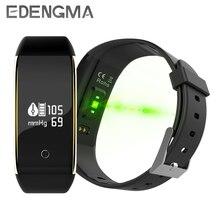 Monitor de ritmo cardíaco EDENGMA V9 para la presión arterial, pulsera inteligente, rastreador de actividad física, reloj para teléfono iOS y Android