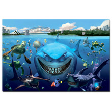 Buy finding nemo poster and get free shipping on aliexpress finding nemo turtle sharks fish cartoon poster canvas print for home decor wall art poster thecheapjerseys Images