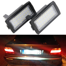 Xenon White 24smd LED License Number Plate Light for BMW E38 740il 750il 740i 1995-2001 Canbus Error free directly install 6 1pcs free shipping white led lights lamps kit 2835 smd canbus error free for bmw 7 series 1994 2001 for bmw e38 740i 84