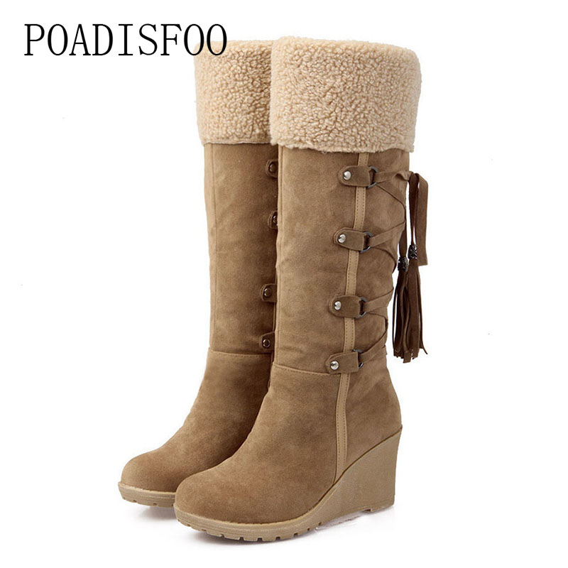 цена POADISFOO Snow Boots Foreign Trade Manufacturers On Behalf Of The Slope With Snow Boots High Boots Spot .XJ-hyl728