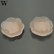 1Pair Sexy Bra Pad Reusable Silicone Breast Petals Pad Chest Stickers Nipple Cover Invisible Intimates Amazing(China)