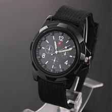 Hot sale Famous Men Quartz Wrist Watches Outdoor Sport Wristwatches Watch Army Soldier Military Canvas Strap Fabric Analog