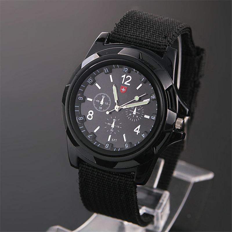 Men Quartz Wrist Watches Outdoor Sport Male Famous Wristwatches Watch Army Soldier Military Canvas Strap Fabric Analog Hot Sale
