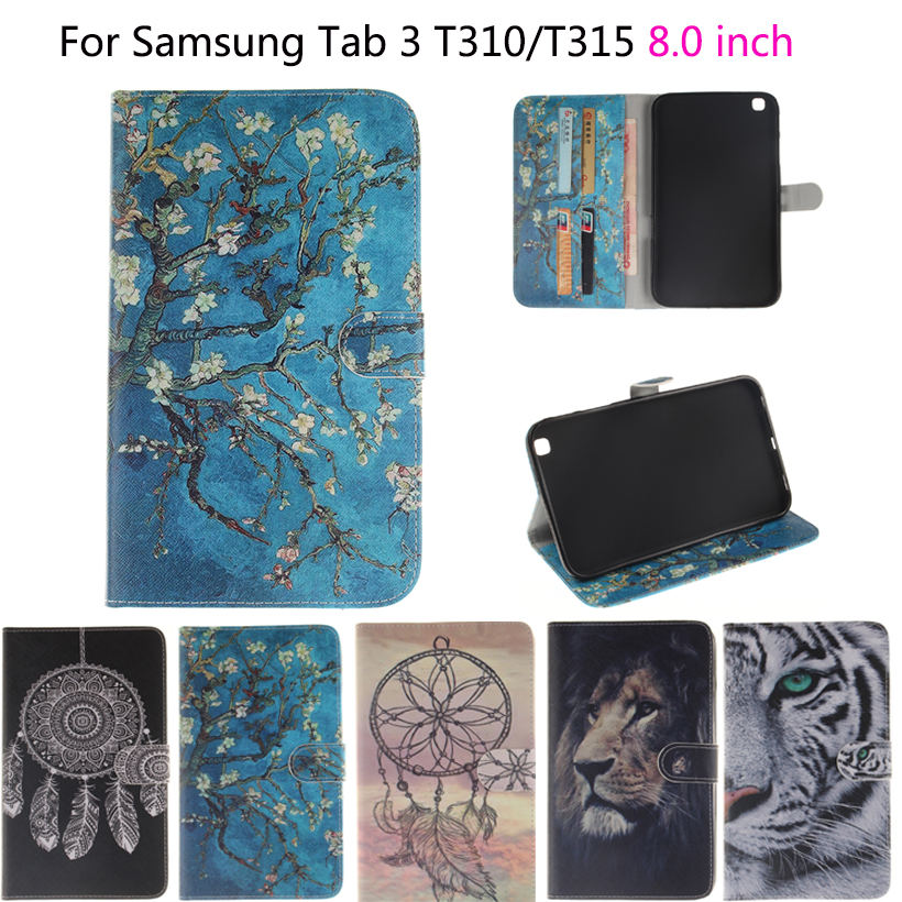 Tablet Funda Case For Samsung Galaxy Tab 3  8.0 T310 T311 T315 SM-T310 Case Cover Owls Tiger Lion animal Flip PU Leather ShellTablet Funda Case For Samsung Galaxy Tab 3  8.0 T310 T311 T315 SM-T310 Case Cover Owls Tiger Lion animal Flip PU Leather Shell