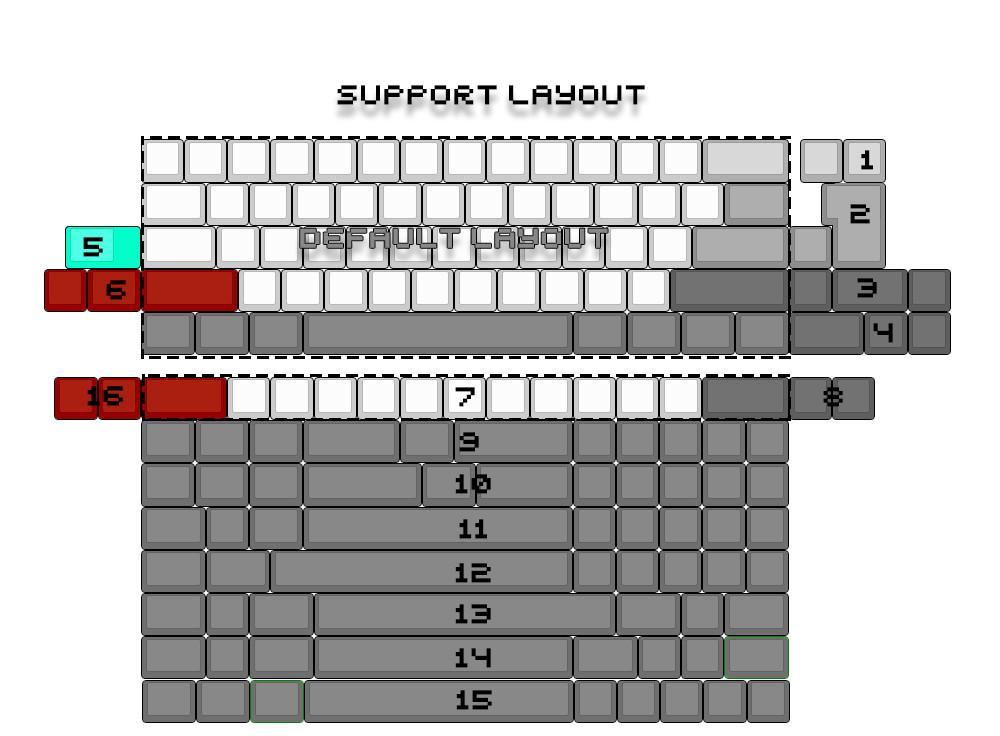 DZ60 PCB 60% layout Mini usb/Type-C interface with RGB undergrow supprt  arrow key for custom mechanical keyboard