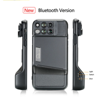 PHOLES 6 in 1 Lens with Case for iphone X Xs XR Max Macro Fisheye Wide angle Telephoto Bluetooth Lens Covers for 7 8 Plus