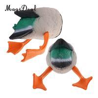 MagiDeal 1 Pair Mallard Duck Butt Hunting Decoys Hunter Greenhand Butt Up Darke Decoy