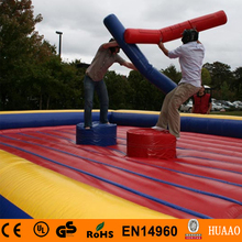 2015 new gladiator inflatable joust with free CE/UL blower and 2 helmets and 2 sticks and free shipping by air express to door free shipping 1100w electric air blower for inflatable products