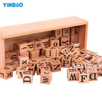 Montessori Wooden The pinyin exercises WoodenToys Child Educational Early Development learn Gift abacus