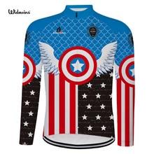 цена на 2019 Invierno Polar hombres bicicleta de manga larga ciclismo Jersey ropa Pro equipo al aire libre Mountain Road uniforme 6558
