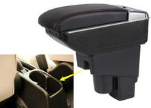 цена на Arm Rest Rotatable For Honda Fit Jazz 2004-2007 Hatchback Center Centre Console Storage Box Armrest  2004 2005 2006 2007