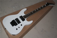 Free Shipping New Top Quality Musical Instrument White Color Floyd Rose Guitar Jackson Electric Guitar 1117
