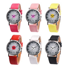 Women's Watch Bracelets Reloje Mujer 2018 Fashion Flower Leather Analog Quartz Vogue Wrist Watch Watches Clock Relogio Feminino