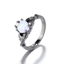 Everoyal Trendy 925 Sterling Silver Rings For Women Jewelry Charm Crystal Heart Girls Finger Accessories Female Gift